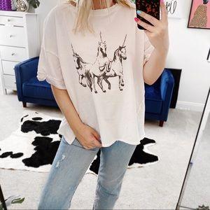 Free people we the free unicorn graphic t shirt